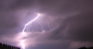 File photo of lightning striking the ground. (Image: Kószó József.)