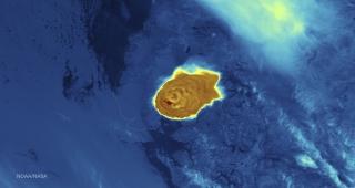 Satellite image of Calbuco ash plume on Thursday. (Image: NOAA/NASA.)
