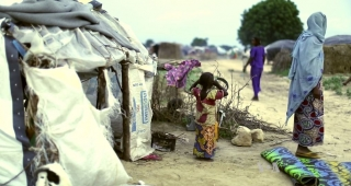 File photo of a refugee camp in Maiduguri, Nigeria. (Image: Voice of America.)