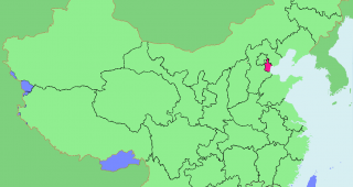 The location of Tianjin within China. (Image: ASDFGH.)