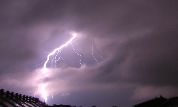 File photo of lightning striking the ground. (Image: Kószó József.)