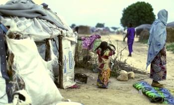 File photo of a refugee camp in Maiduguri, Nigeria. (Image: Voice of America.)