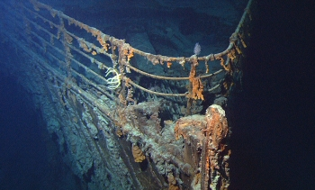 The wrecked bow of RMS Titanic (Image: U.S. National Oceanic and Atmospheric Administration/Institute for Exploration/University of Rhode Island.)