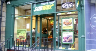 A Subway restaurant in Edinburgh, Scotland. (Image: Ian Thomson.)