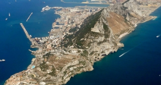 Gibraltar, seen from the air. From file. (Image: Steve.)