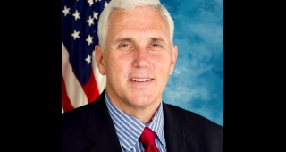Pence was a former US Representative and elected Indiana's Governor in 2012. He will face reelection next year. (Image: United States Congress.)
