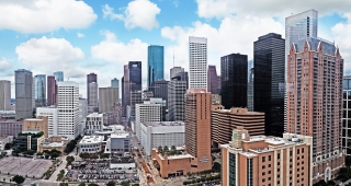 File photo of downtown Houston. (Image: Hequals2henry.)