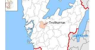 Trollhättan Municipality is located in western Sweden. (Image: Nordelch.)