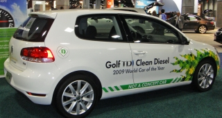 "A 2010 VW Golf TDI with ""Clean Diesel"", one of the cars affected by the scandal. (Image: Mariordo Mario Roberto Duran Ortiz.)"