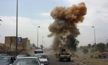 File photo: A car bomb explodes in Iraq. (Image: SPC Ronald Shaw Jr., U.S. Army.)