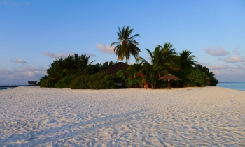 One of over 1,000 islands that make up the Maldives. (Image: Timo Newton-Syms.)