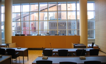 A courtroom at the Helsinki District Court, from file. (Image: MakeF.)