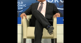 President Martelly, seen here in 2012, is ruling by decree after the collapse of parliament. (Image: World Economic Forum.)