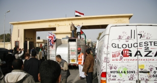 File photo of Rafah border crossing, 2009. (Image: gloucester2gaza.)