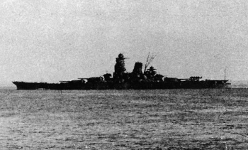 Mushashi near Brunei, heading to the battle. (Image: Tobei Shiraishi.)