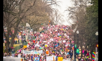 The main march in Washington D.C. drew over half a million people. (Image: Ted Eytan (flickr).)