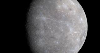 MESSENGER image of Mercury from file, 2008. (Image: NASA/JPL.)