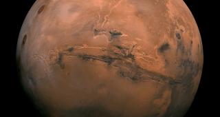 Mars from the Viking Orbiter, 1980. (Image: NASA/USGS.)