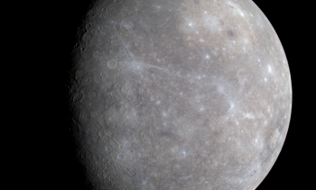 MESSENGER image of Mercury from file, 2008. (Image: NASA/JPL.)