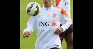 Robin van Persie, who scored the own goal (Image: Kathi Rudminat.)
