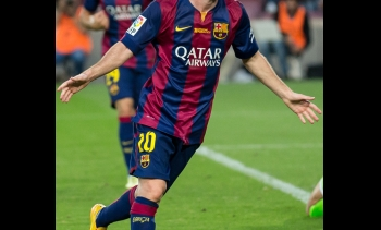 File photo of Lionel Messi, who scored the hat-trick (Image: L.F.Salas.)
