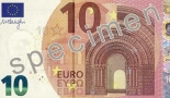 A sample of the new 10 euro banknote.