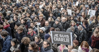 Marchers in Paris. (Image: Yann Caradec.)